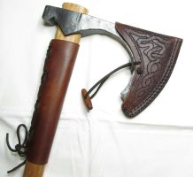 Viking bearded axe sheath by Durnstaros