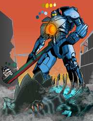 Gipsy Danger Commission WIP by ezwerk