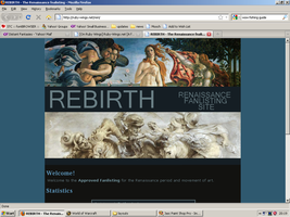 Old website design: Renaissance by jadedlioness