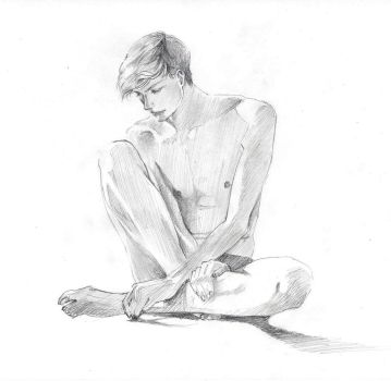 Figure study, sketch by reya-desu