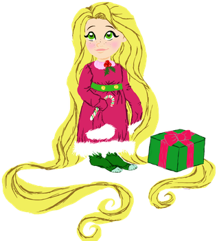 Christmas Rapunzel Art Trade by Camelot-Angel