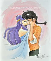Ranma and Shampoo by Wednesday2021