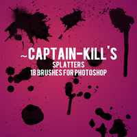 Splatter Brushes for PS by captain-kill