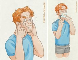 Shaving [General Hux] by ProfDrLachfinger