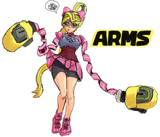 Arms - Ribbon Girl by jtsketch