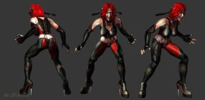 BloodRayne Model Sheet by newhere