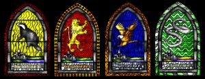 Hogwarts Houses windows by guad
