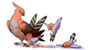 Talonflame and Fletchling