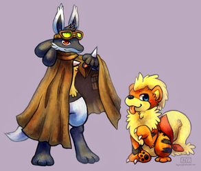 Chiron and Leo by Haychel
