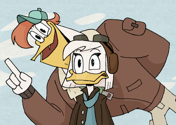 DuckTales - They're Pilots by queenbean3