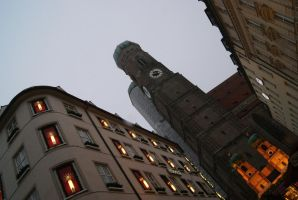 Beneath the FrauenKirche by wafitz