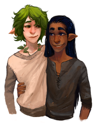 Commission: Pico And Nye by Leerer-Raum