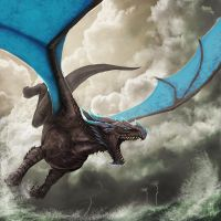 Stormglider Dragon by SarahJaneArt