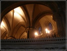 Inside Canterbury Cathedral by carolynthefairy
