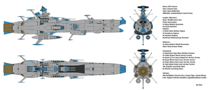 Space Battleship EDF Arizona by Tzoli