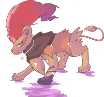 Custom Shiny Kaenjishi | Pyroar Commission