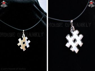 Tweeters Hashtag necklace by brokensymphony