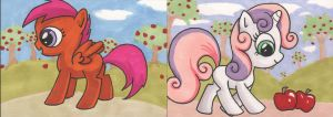 My Little Pony sketchcards 5 by angelacapel
