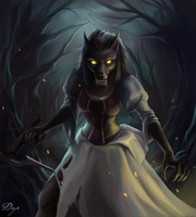 Worgen - Hearthstone - Witchwood by KiwiStarling