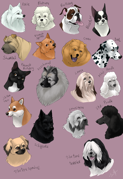 dog icons - NON-SPORTING GROUP by swift-whippet