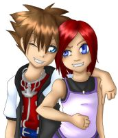Sora and Kairi by jessijoke