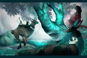 the dragontree. +speedpaint by salvarpg
