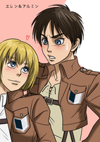 Attack on Titan xx Eren and Armin xx by Xhaowrong