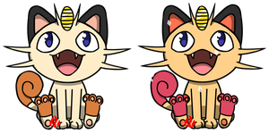 Pokemon #052 - Meowth by Fyreglyphs