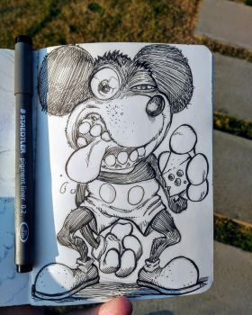 Inktober day 12: Mickey Mouse by Corbella