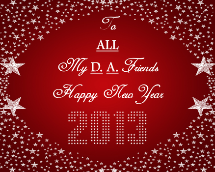 Happy New Year DA 2013! by ZandKfan4ever57