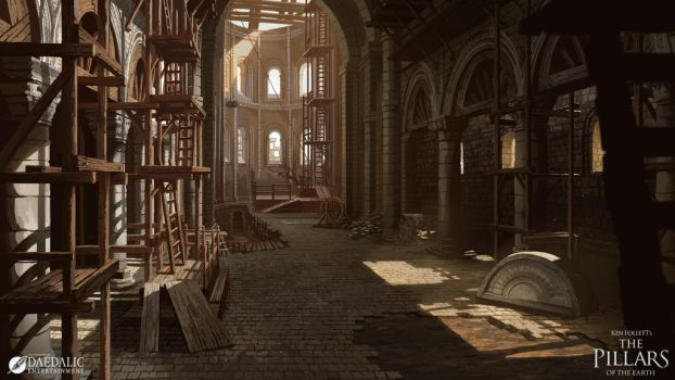 The Pillars of the Earth - Kingsbridge Interior by SebastianWagner