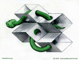 Snake and Boxes by sethness