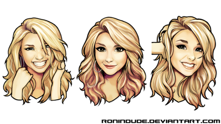 Expression practice - Hayden Panettiere - Set 2 by RoninDude