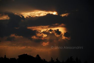 Cloudy dark sunset by SilvieTepes