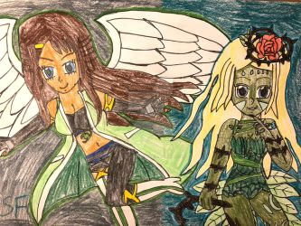 Contest Entry: The Angel and the Nymph by StellarFairy