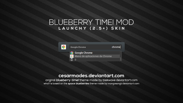Blueberry Time! MOD for Launchy by cesarmades