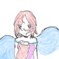 Pink Haired Angel by khiro