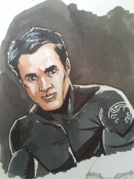 Ward from agents of shield sketch by EmanuelMacias