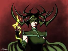 Hela, Goddess of Death by DevinQuigleyArt