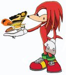 Knuckles meets Fairy Mothra by BigJohnnyCool