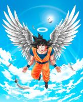 Angel Goku by MIKELopez
