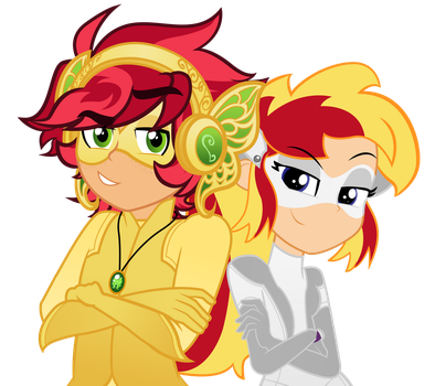 Redheads squared by Orin331