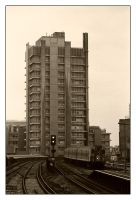 Building and train at Vauxhall by ash