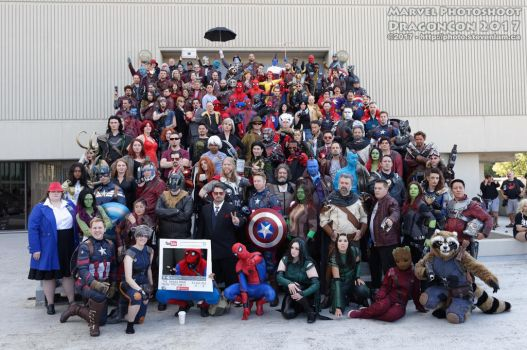MCU Group Shot at Dragon*Con 2017 by R-Legend