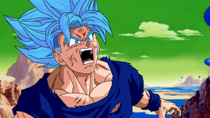 Dragon Ball Super in the 90s - Goku SSJ Blue by teitor