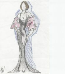black evening gown by septrent22