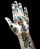 Sharpie Hand With Color by pebblebrain22