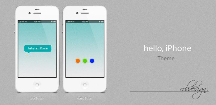 Hello, iPhone - Theme wallpaper 640x960 by robdesign2