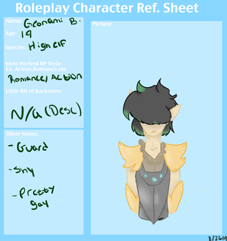 Roleplay Character sheet | Geonami Butler by Merciless-Killer
