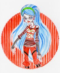 Ghoulia Yelps, Daughter of Zombies by Daisku